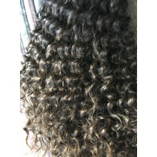 Curly Machine Wefted Black